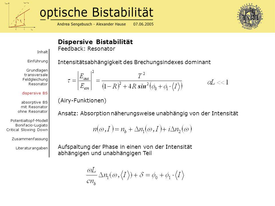 Dispersive Bistabilität