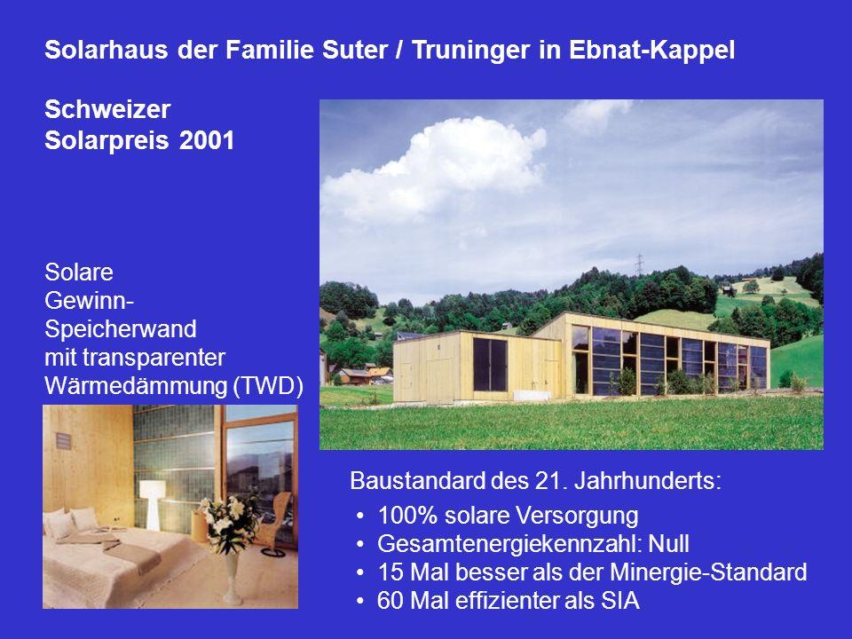Solarhaus der Familie Suter / Truninger in Ebnat-Kappel Schweizer