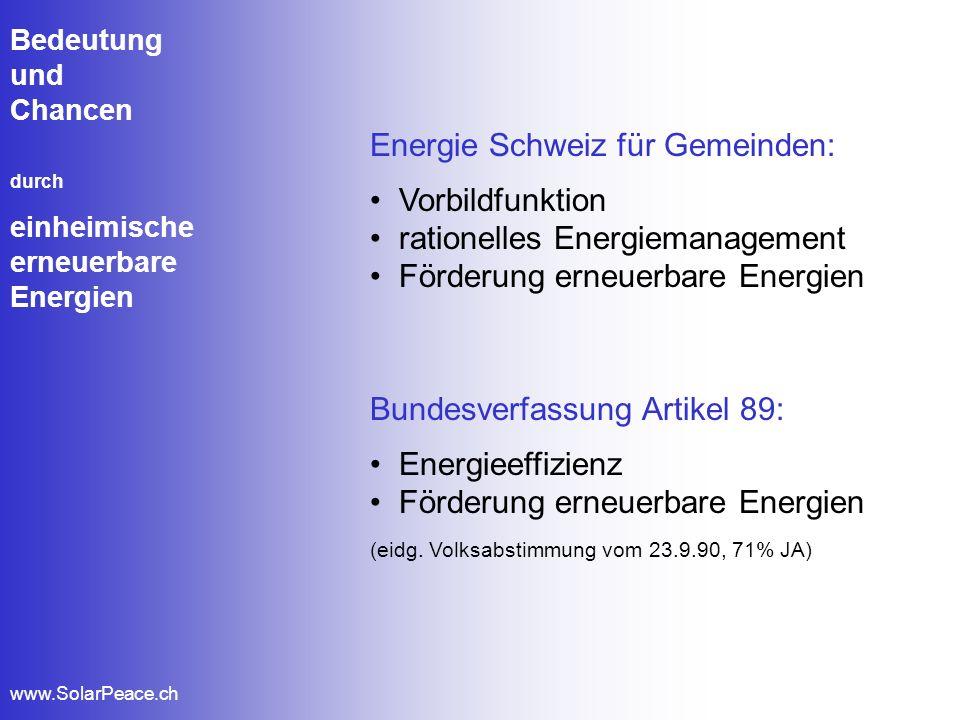 Energie Schweiz für Gemeinden: Vorbildfunktion