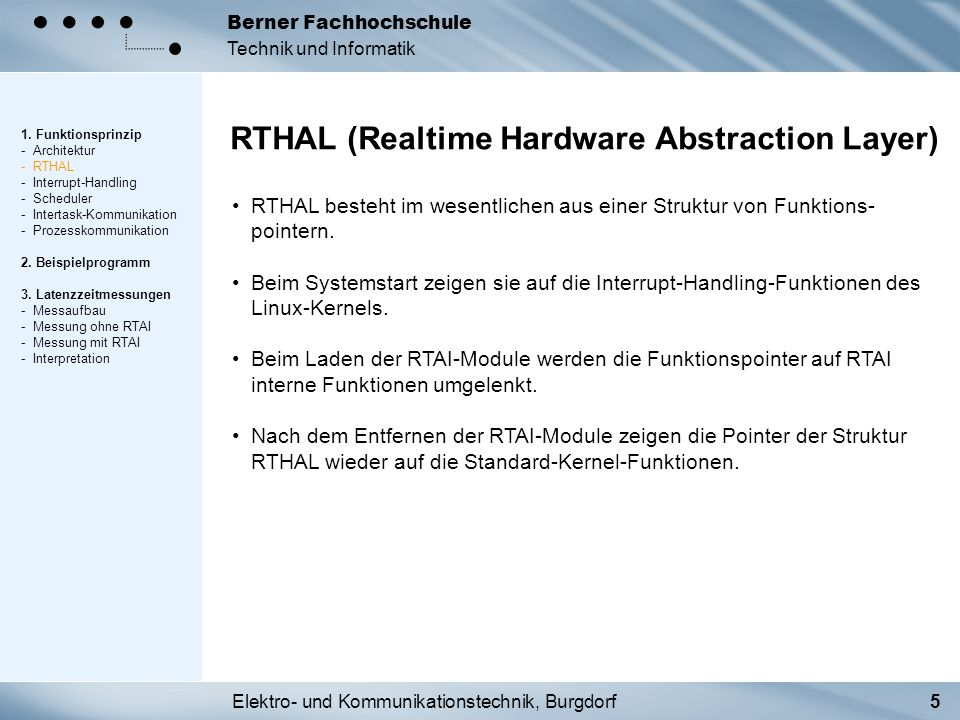 RTHAL (Realtime Hardware Abstraction Layer)