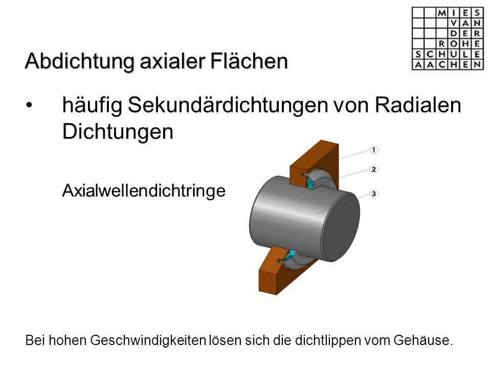 Abdichtung axialer Flächen