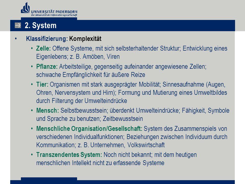 2. System Klassifizierung: Komplexität