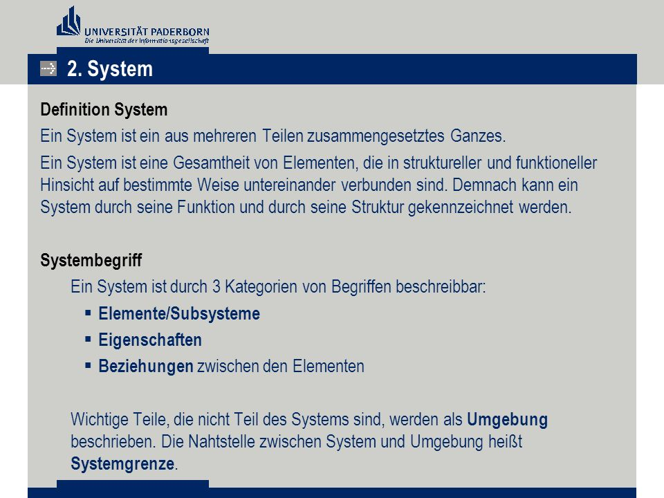 2. System Definition System
