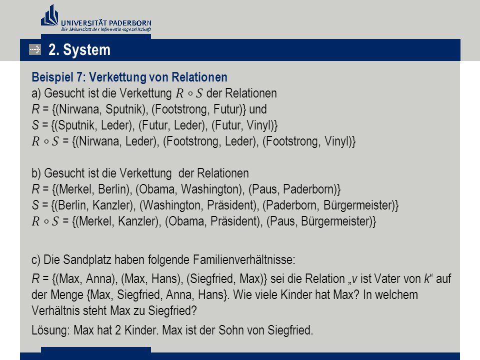 2. System Beispiel 7: Verkettung von Relationen