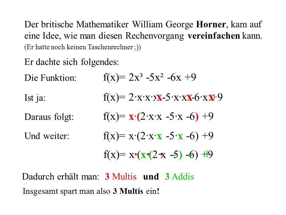 x x x · · · - - + f(x)= 2x³ -5x² -6x +9 f(x)= 2·x·x·x -5·x·x -6·x +9