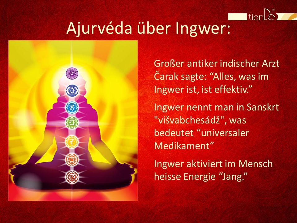Ajurvéda über Ingwer: