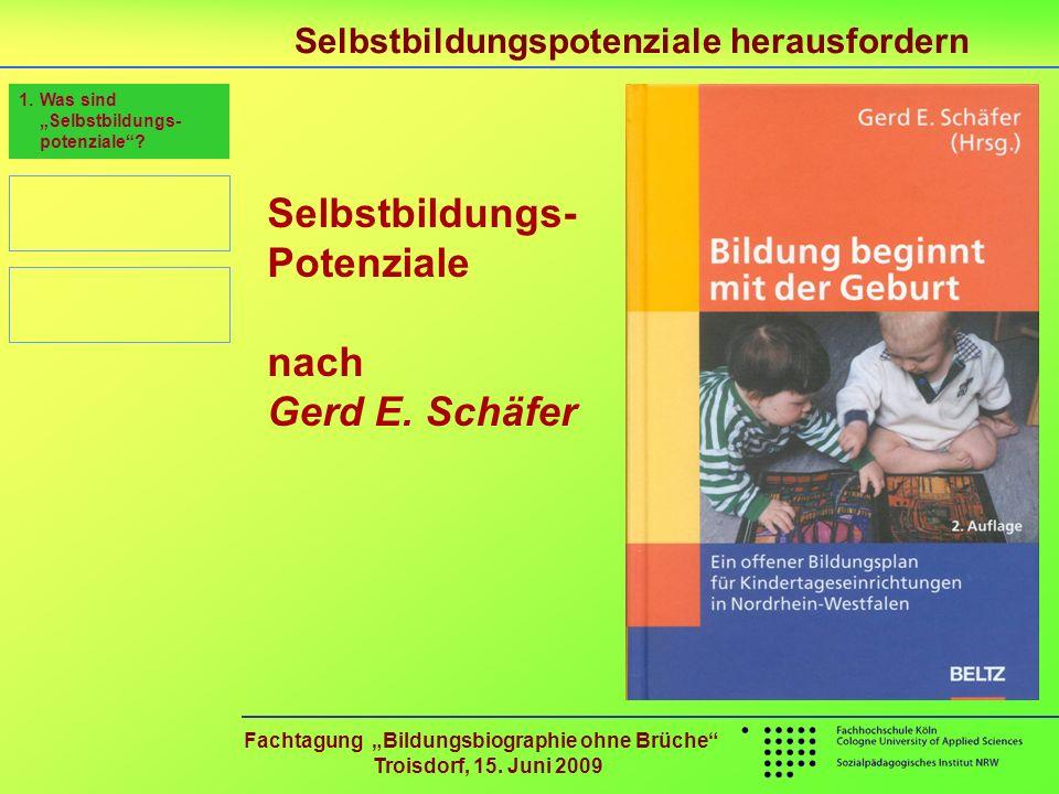 Selbstbildungs- Potenziale nach Gerd E. Schäfer