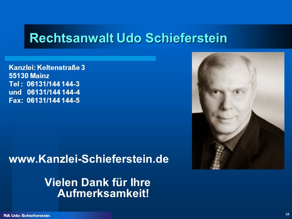 Rechtsanwalt Udo Schieferstein