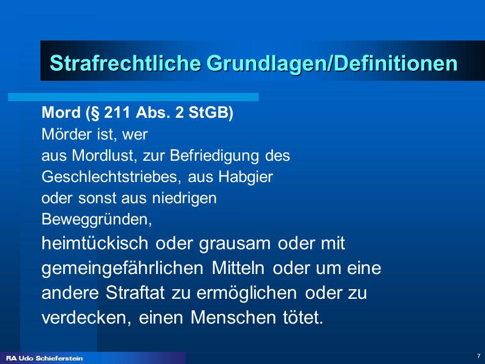 Strafrechtliche Grundlagen/Definitionen