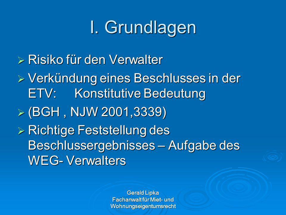 Gerald Lipka Fachanwalt für Miet- und Wohnungseigentumsrecht