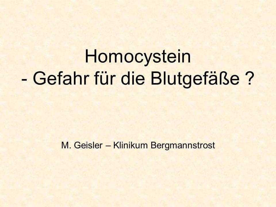Homocystein - Gefahr für die Blutgefäße