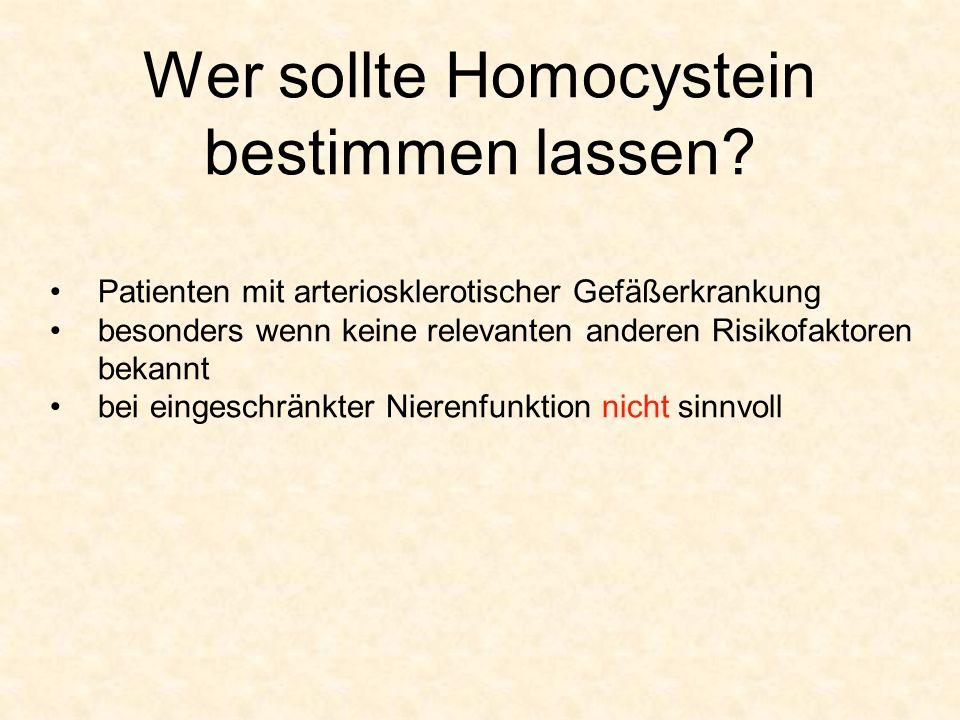 Wer sollte Homocystein bestimmen lassen