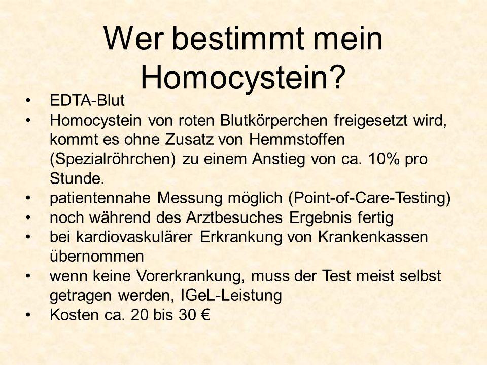 Wer bestimmt mein Homocystein