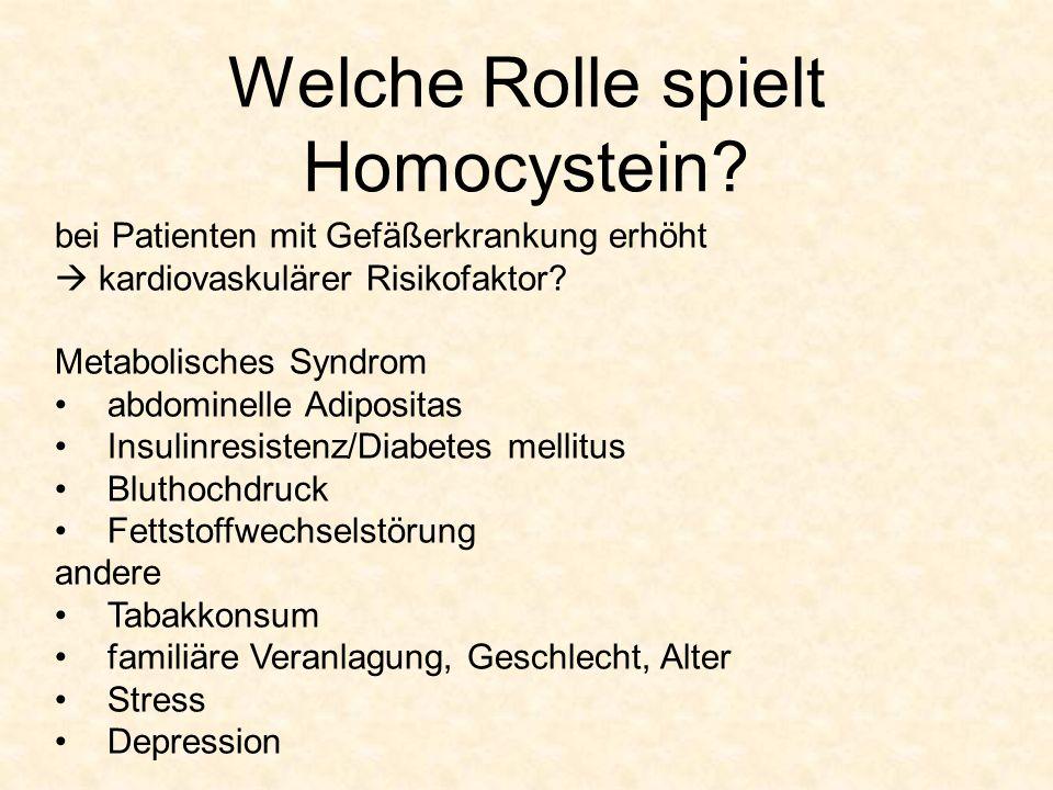 Welche Rolle spielt Homocystein