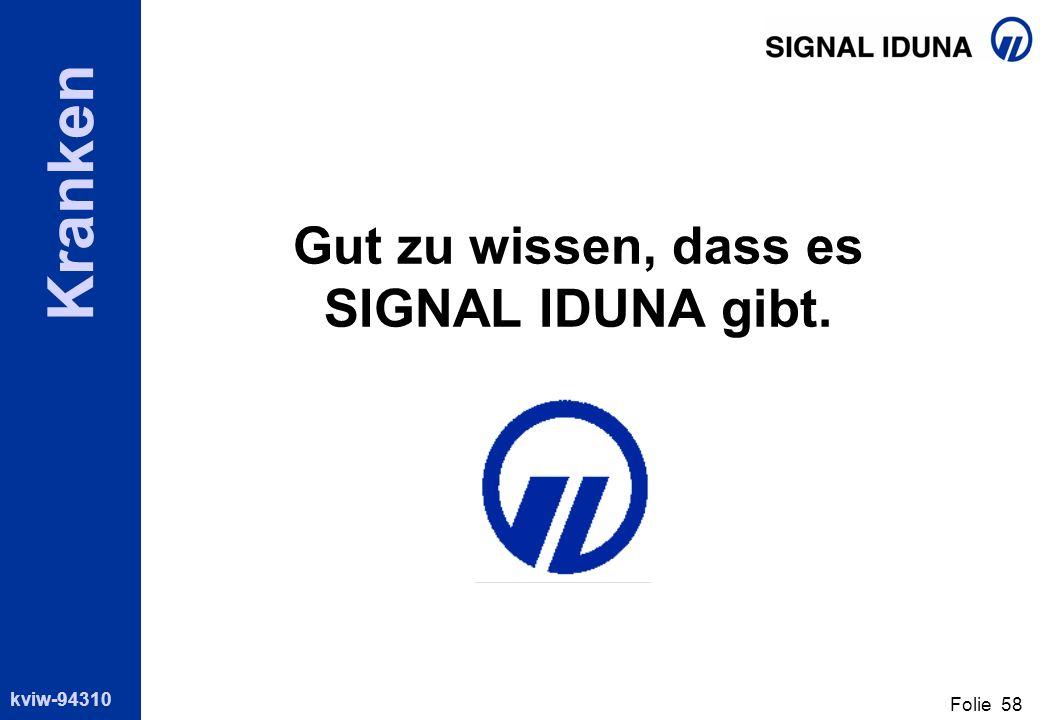 Gut zu wissen, dass es SIGNAL IDUNA gibt.