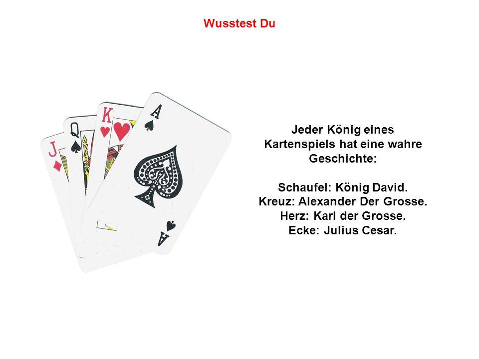 Jeder König eines Kartenspiels hat eine wahre Geschichte: