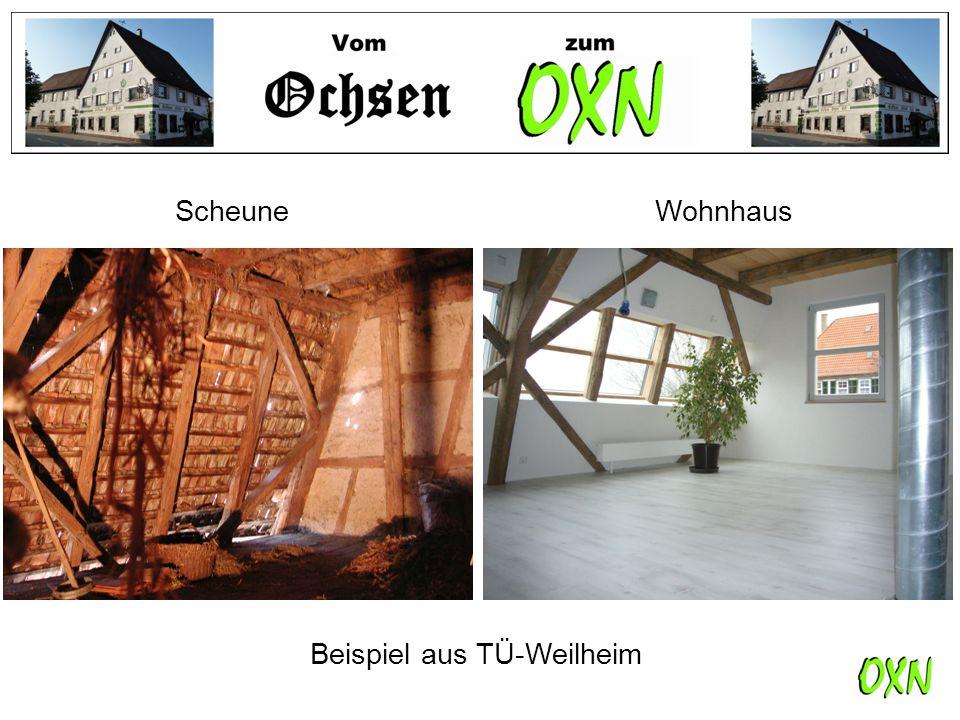 Scheune Wohnhaus Beispiel aus TÜ-Weilheim