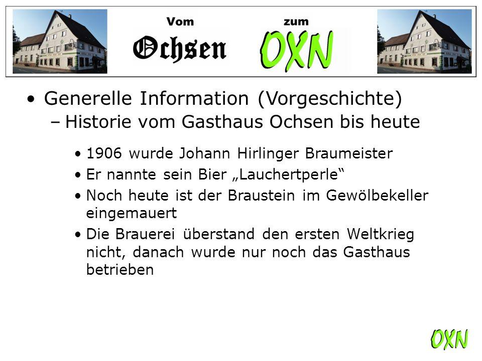 Generelle Information (Vorgeschichte)