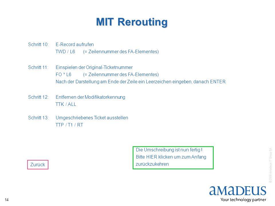MIT Rerouting Schritt 10: E-Record aufrufen