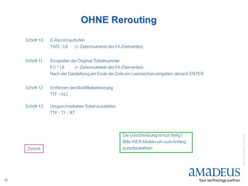OHNE Rerouting Schritt 10: E-Record aufrufen