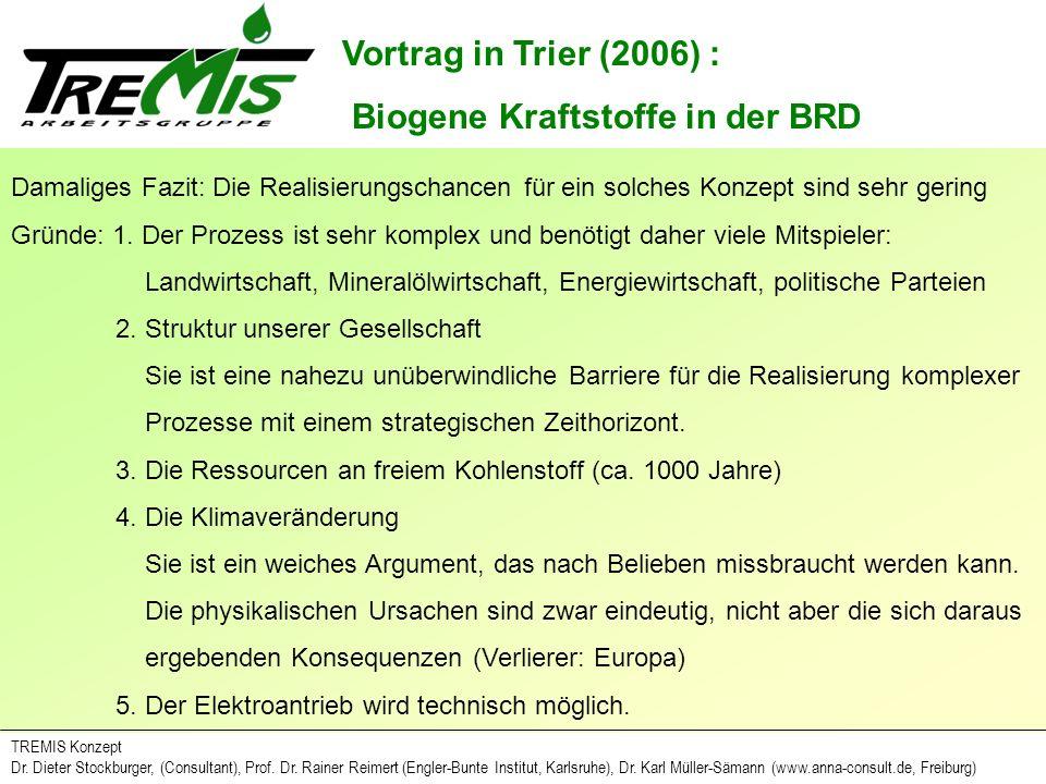 Biogene Kraftstoffe in der BRD