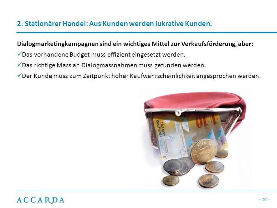 2. Stationärer Handel: Aus Kunden werden lukrative Kunden.
