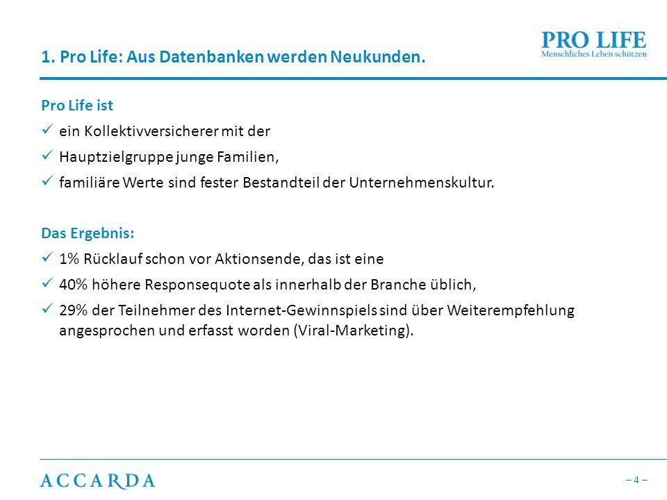 1. Pro Life: Aus Datenbanken werden Neukunden.