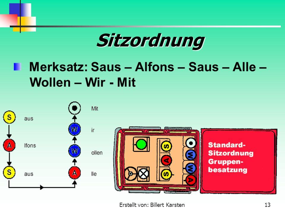 Merksatz: Saus – Alfons – Saus – Alle – Wollen – Wir - Mit