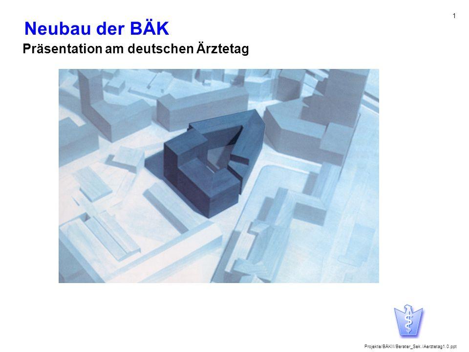 Neubau der BÄK Präsentation am deutschen Ärztetag