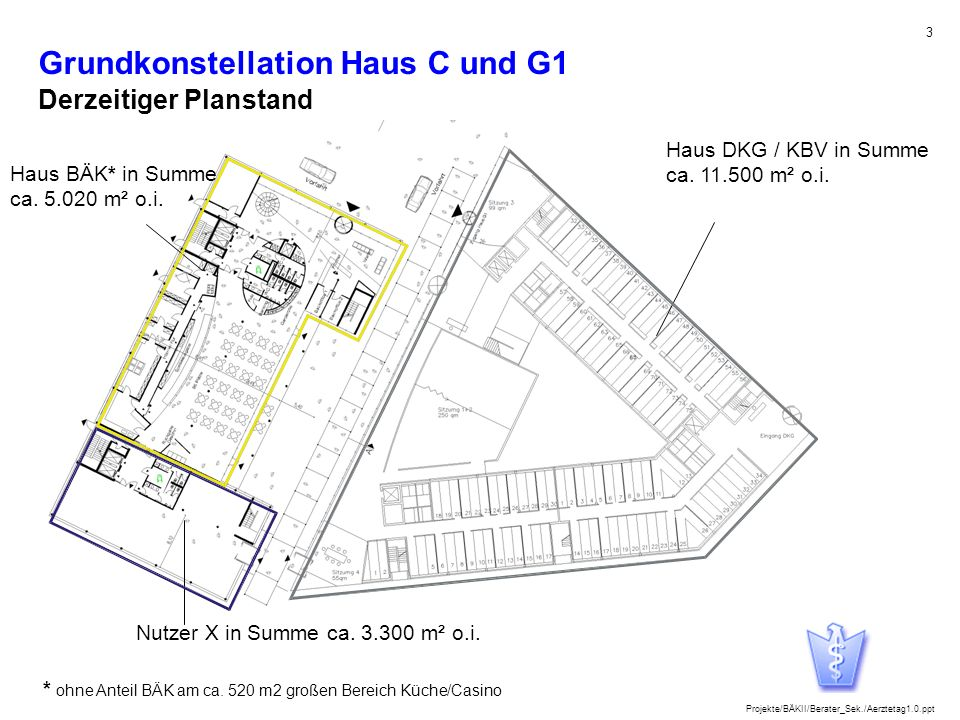 Grundkonstellation Haus C und G1