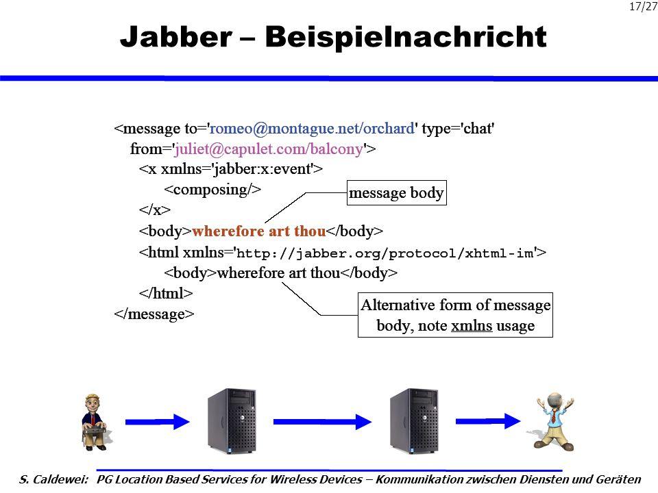 Jabber – Beispielnachricht