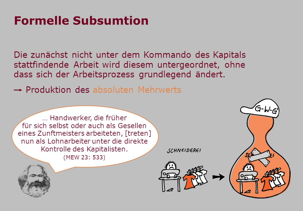 Formelle Subsumtion