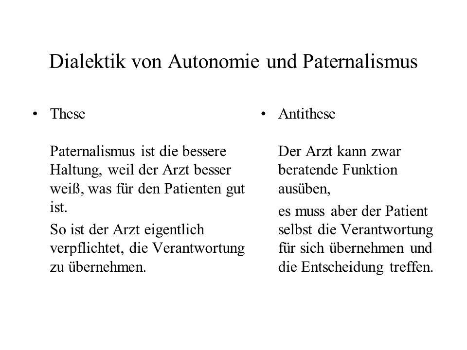 Dialektik von Autonomie und Paternalismus