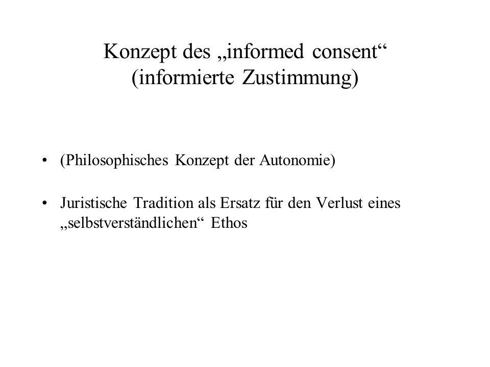 """Konzept des """"informed consent (informierte Zustimmung)"""