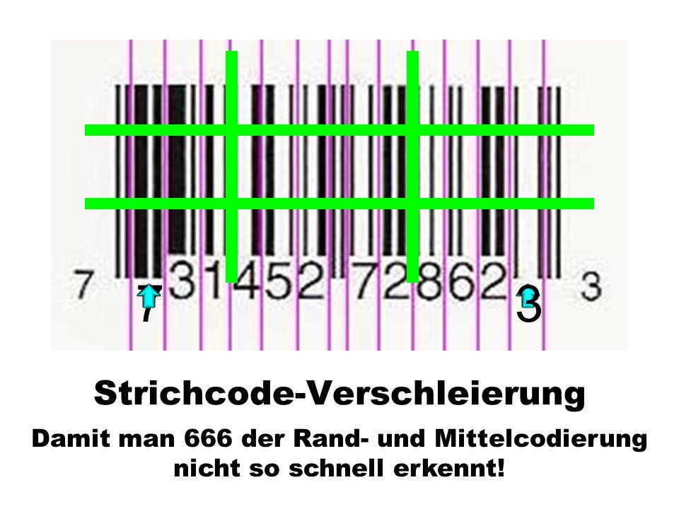 Strichcode-Verschleierung
