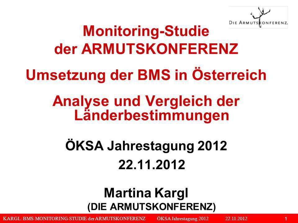 Umsetzung der BMS in Österreich
