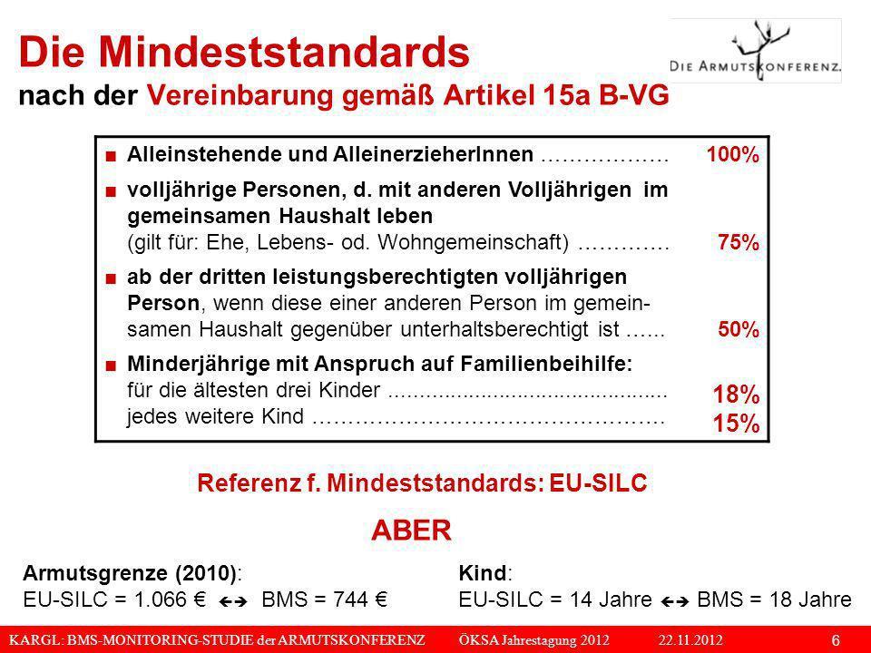 Die Mindeststandards nach der Vereinbarung gemäß Artikel 15a B-VG