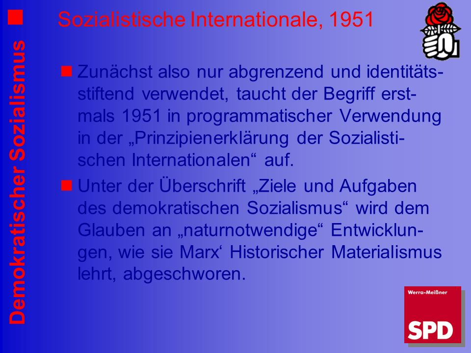Sozialistische Internationale, 1951