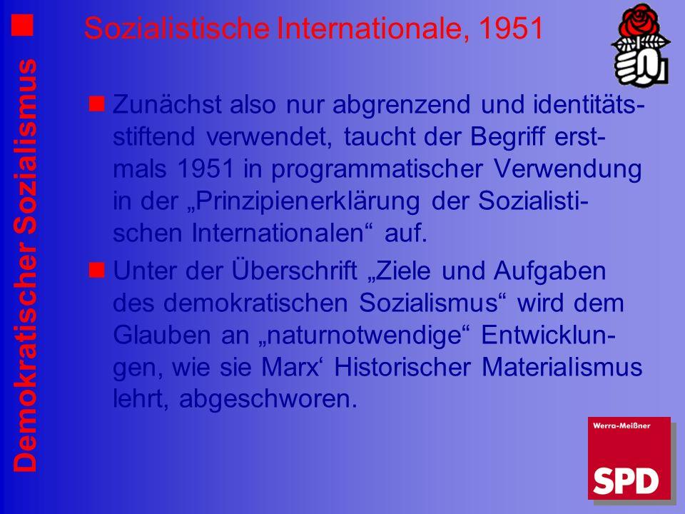 Sozialistische Internationale, 1951