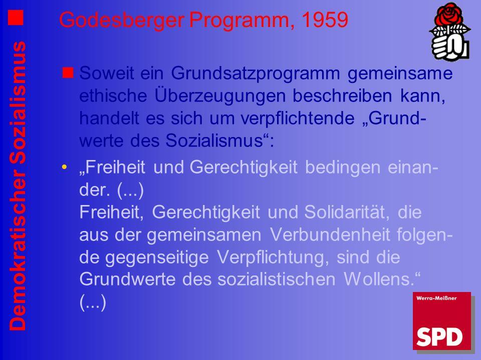 Godesberger Programm, 1959