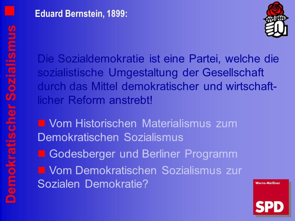 Vom Historischen Materialismus zum Demokratischen Sozialismus
