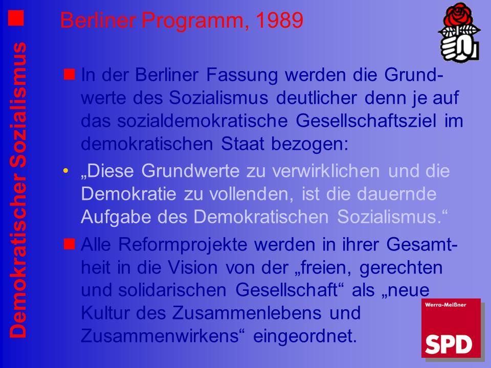 Berliner Programm, 1989