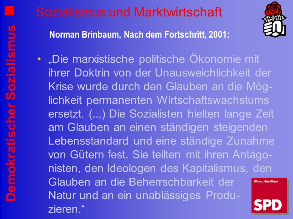 Sozialismus und Marktwirtschaft
