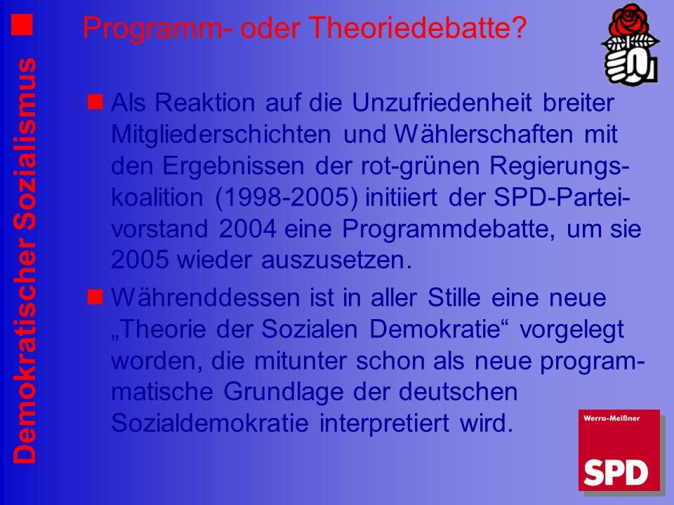 Programm- oder Theoriedebatte