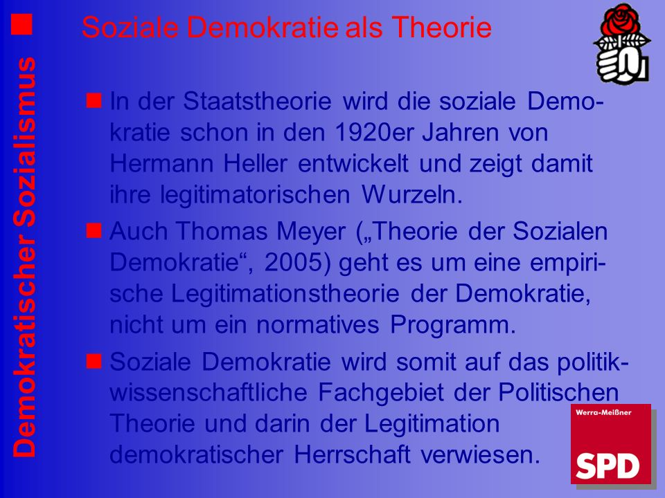 Soziale Demokratie als Theorie