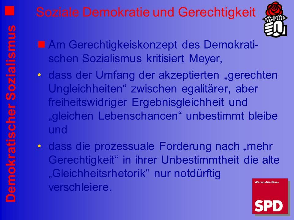 Soziale Demokratie und Gerechtigkeit