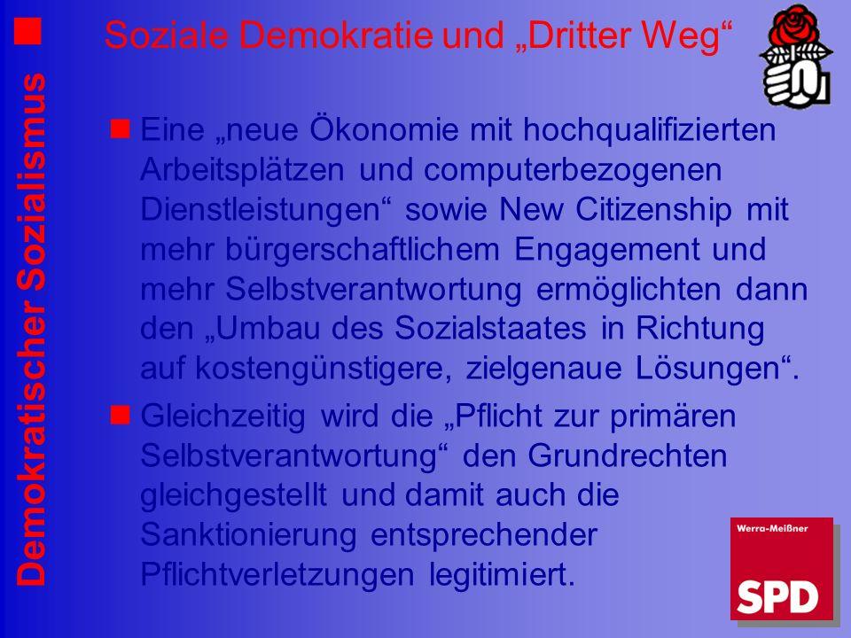 """Soziale Demokratie und """"Dritter Weg"""