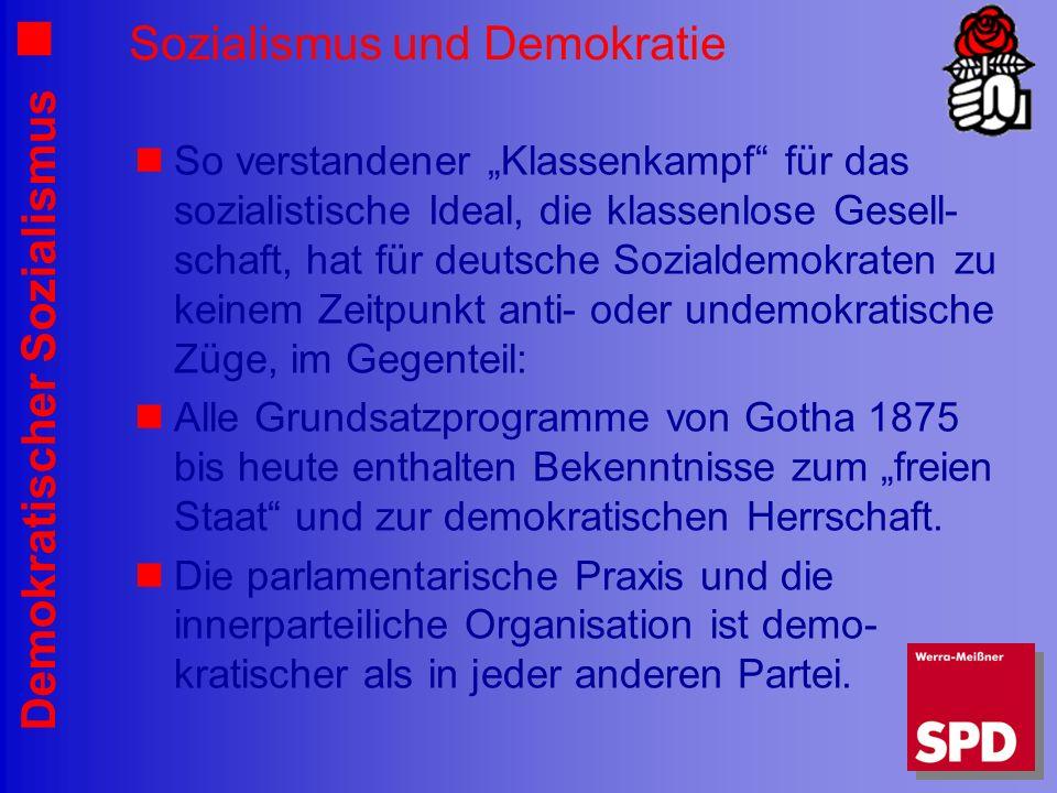 Sozialismus und Demokratie