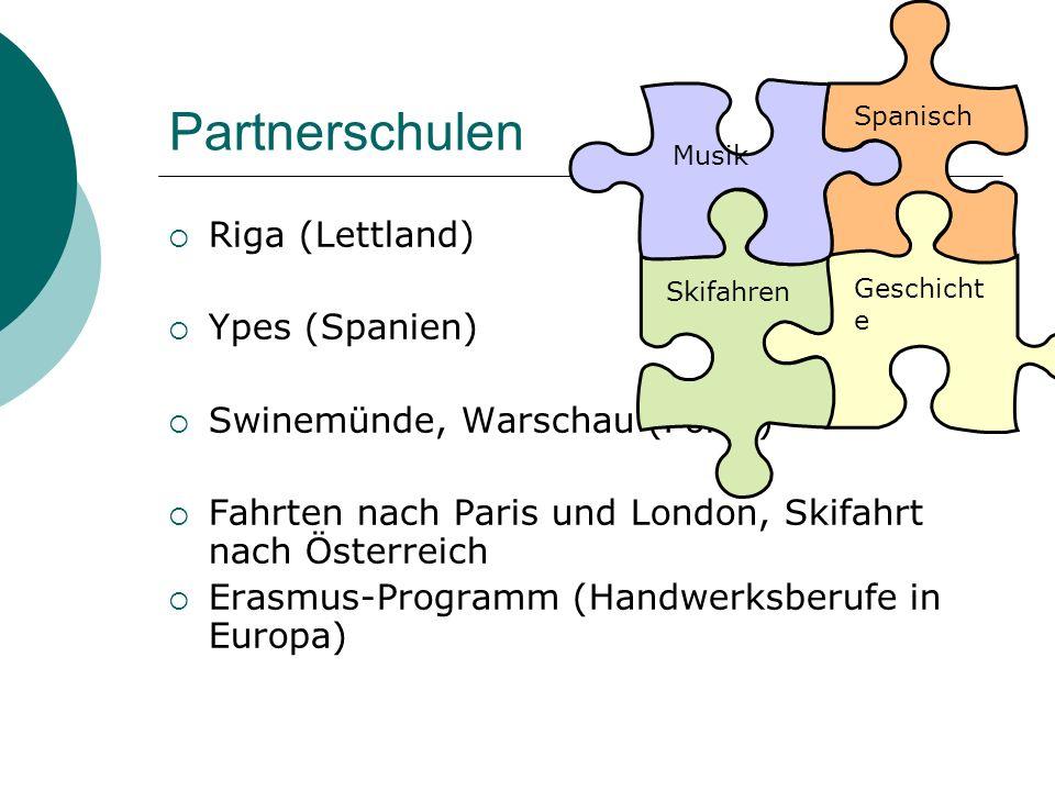 Partnerschulen Riga (Lettland) Ypes (Spanien)