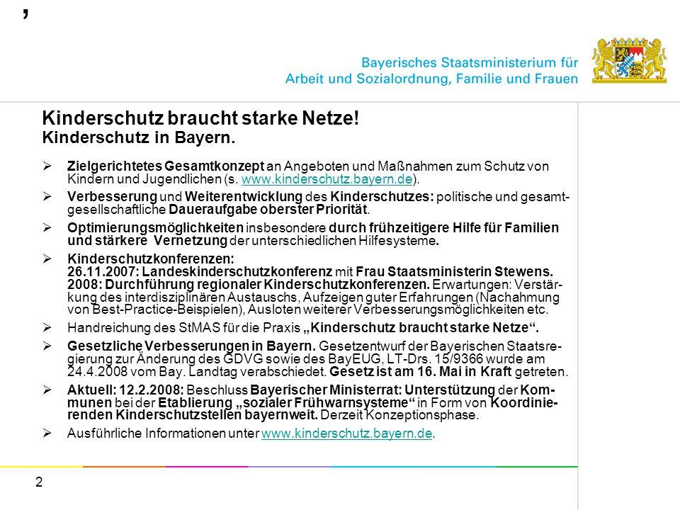 0, Kinderschutz braucht starke Netze! Kinderschutz in Bayern.